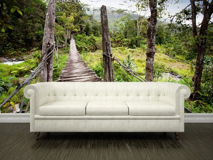 Living-Room-with-hanging-bridge-Wall-Mural