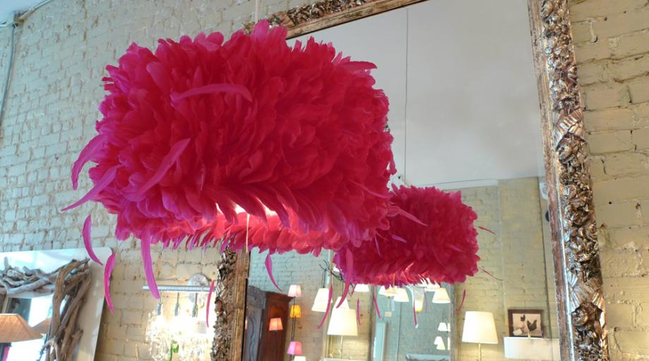 Red-Feather-Chandelier