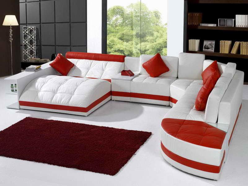 Unique-Red-White-Leather-Sofa-Care-Ideas