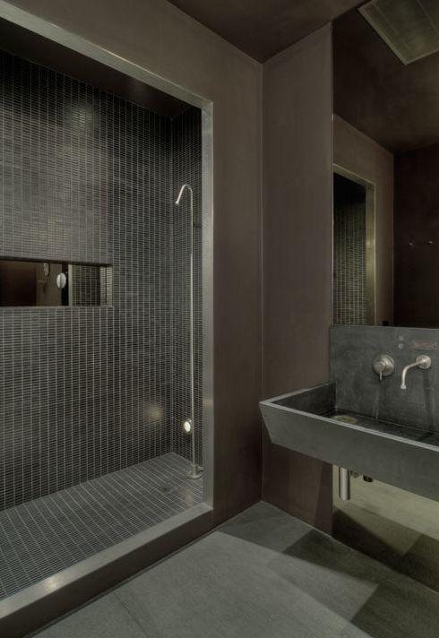ideas for concrete bathroom