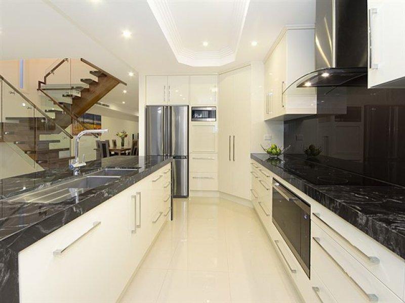 kitchens black marbel modern stylish kitchen