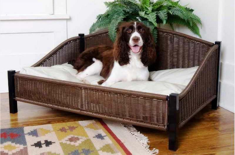 rattan-dog-bed-ideas