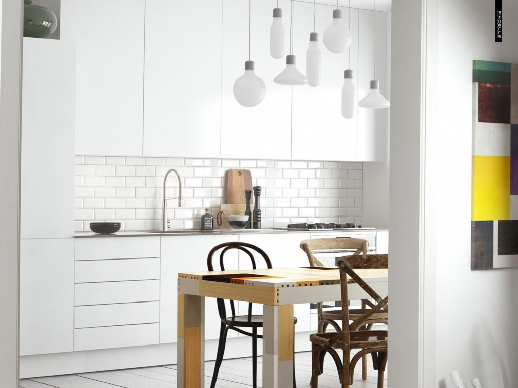 white-Scandinavian-kitchen.-