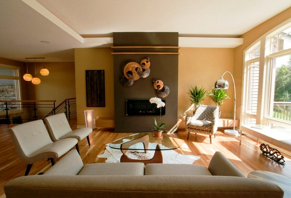 Brown-Living-Room-Ideas-with-Wall-Accents