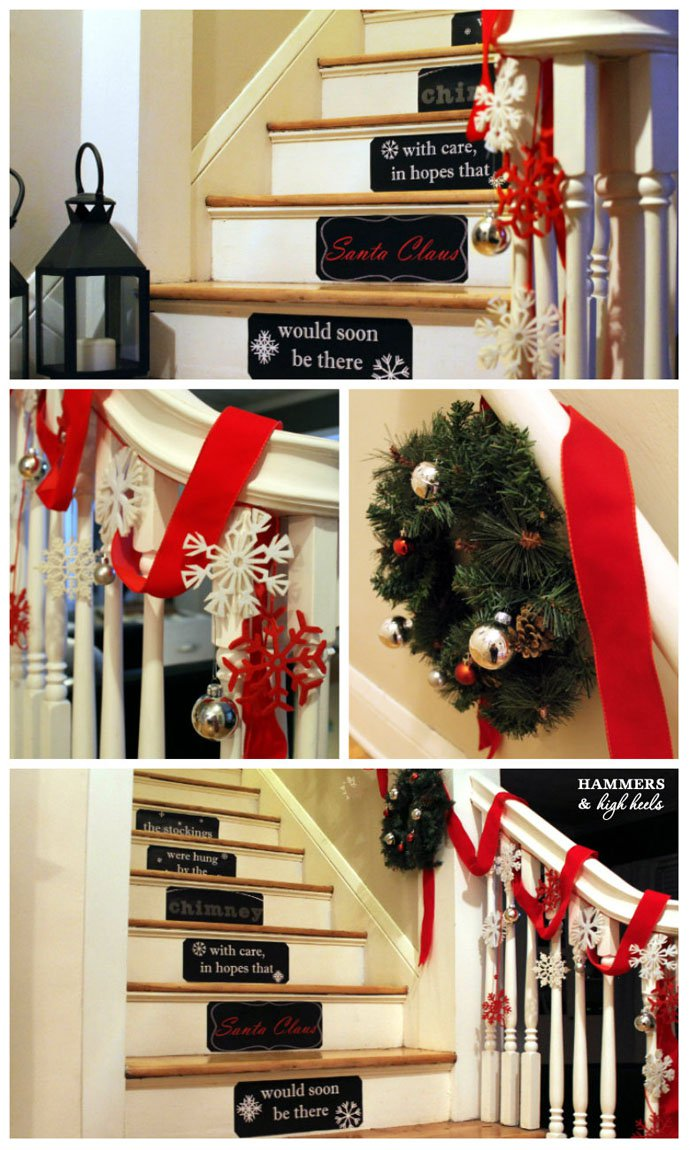 Decorating Stairs For Christmas Creative Decorations