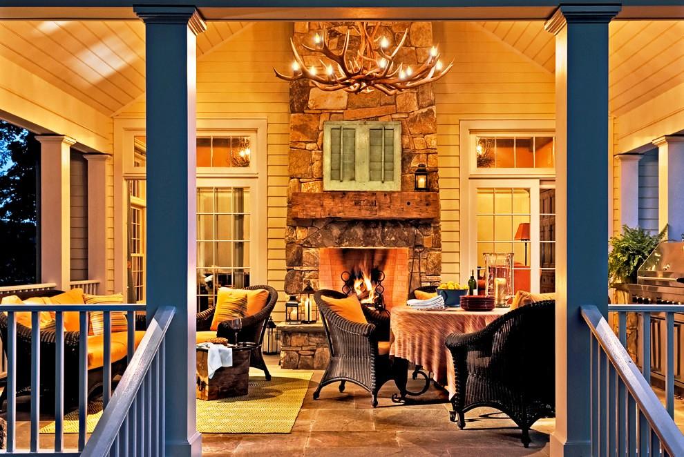 Porch-Traditional-design-ideas-antler-chandelier-back