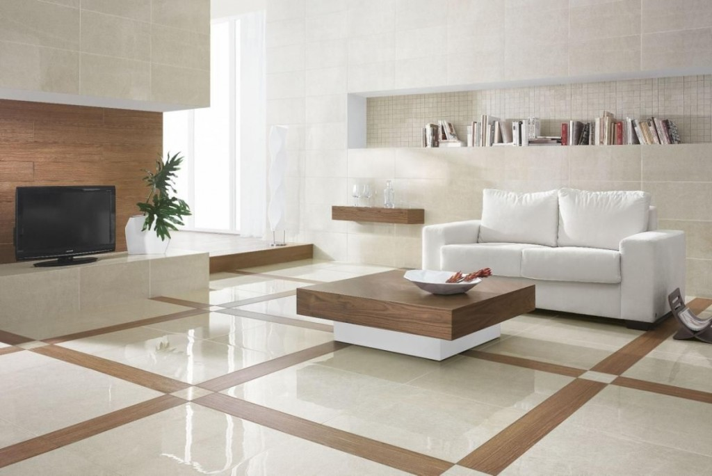 Marble Flooring Designs For Living Room With Wood
