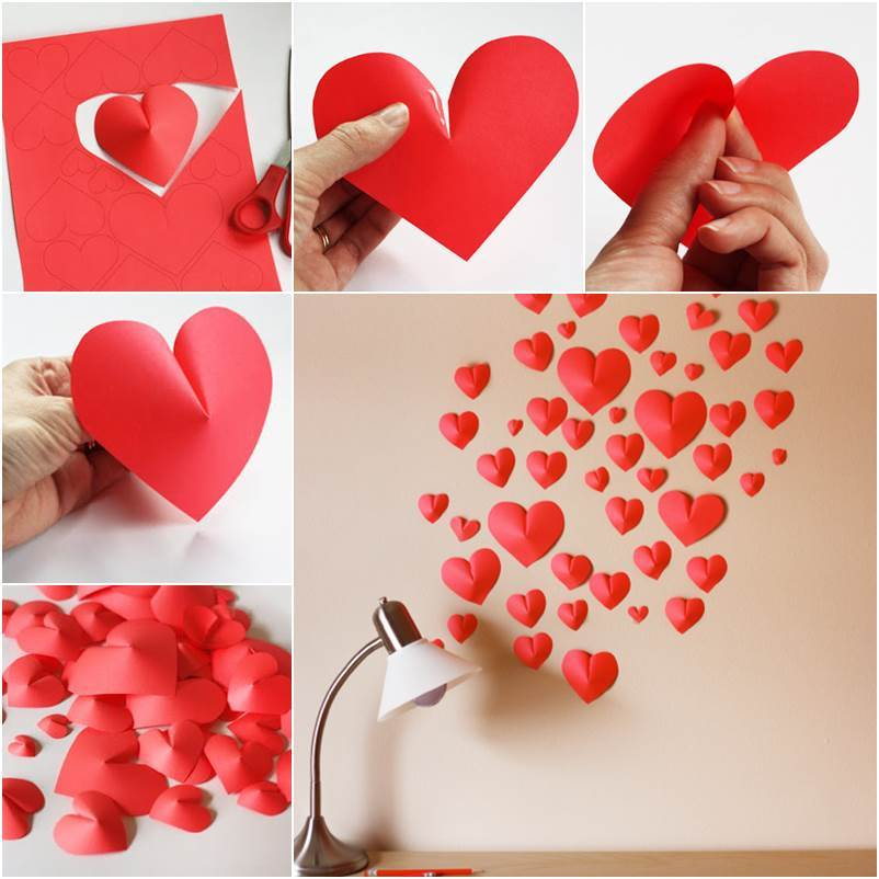 Paper Hearts Wall Decor