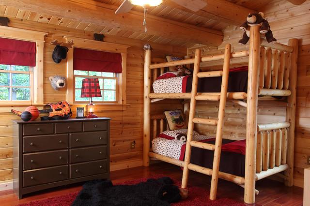 Log Cabin rustic-kids-beds