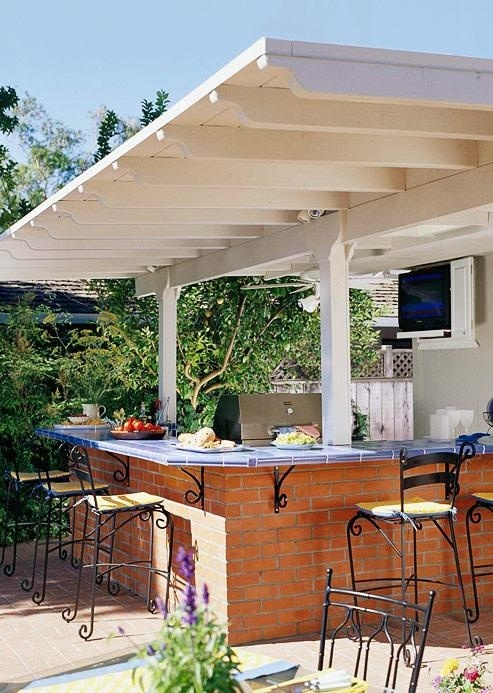 Outdoor kitchen decor