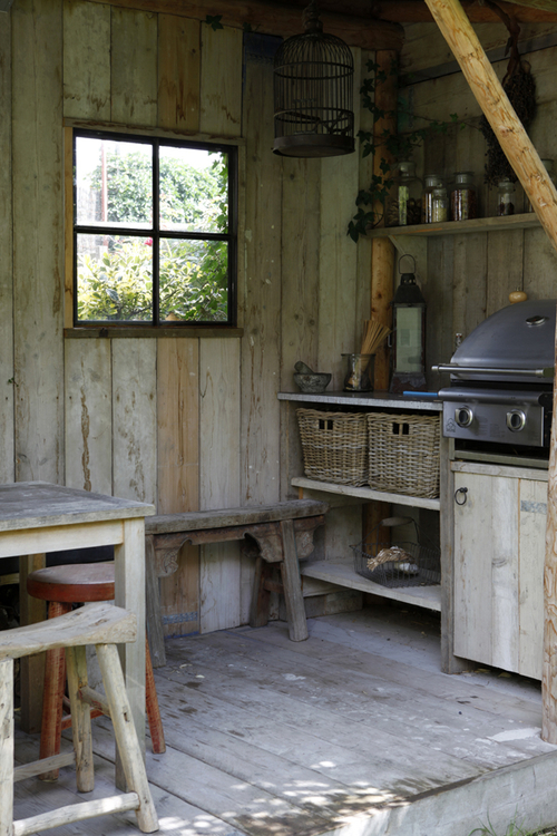 vintage outdoor kitchen