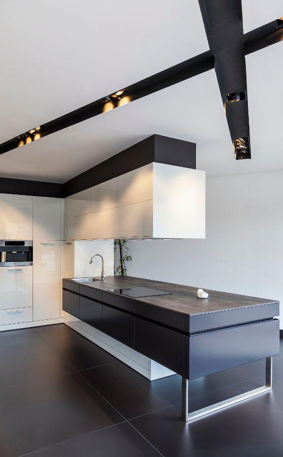 Black and White Minimalist Kitchen