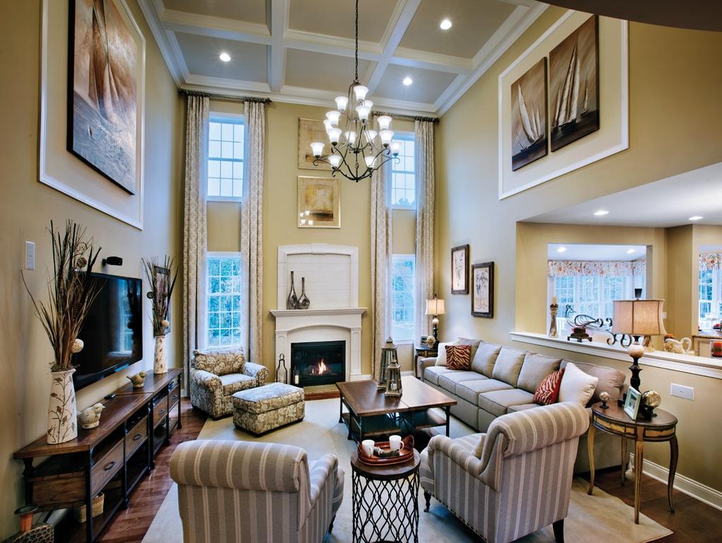 Luxury Living Room Metal Fireplace