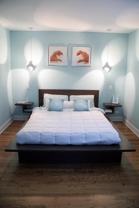 Antique Feel Studio Apartment Creative Bedroom Plan With Sliding Door