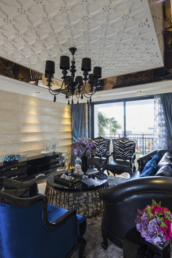 Living-Room-Decor-Ideas-Ceilings-Textured-Coffered-Tray