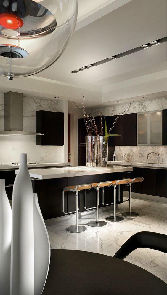 modern and sleek kitchen