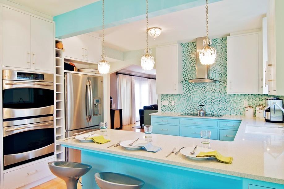 turquoise kitchen tile