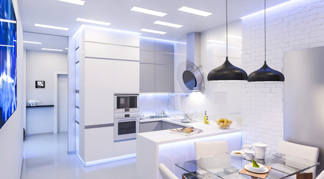 white modern kitchen design 2016