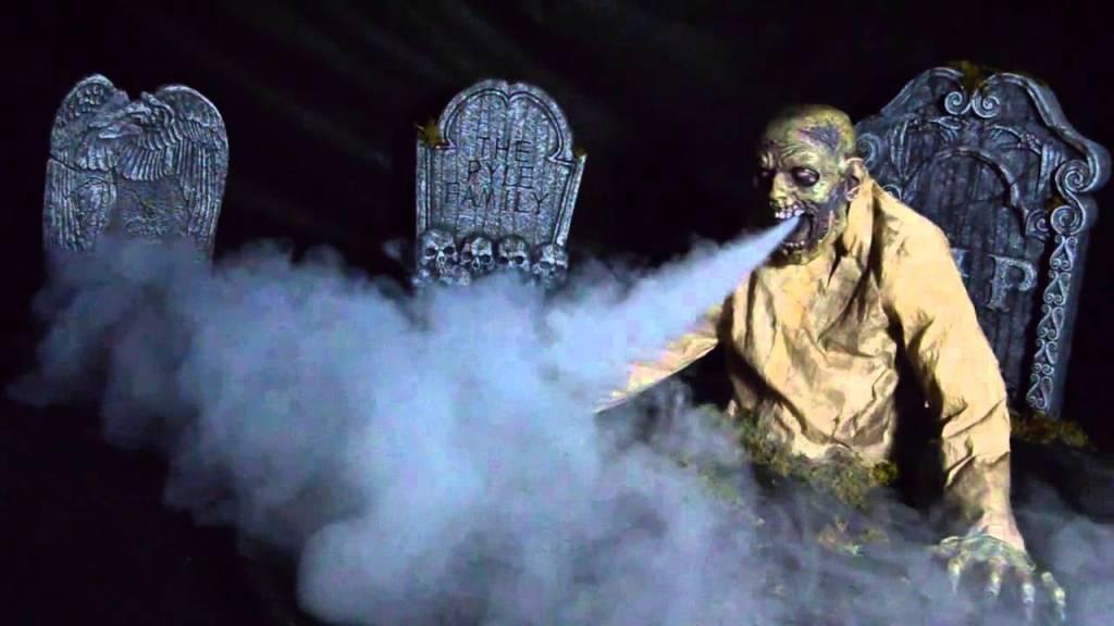 Gaseous Zombie Animated Fog Halloween Prop