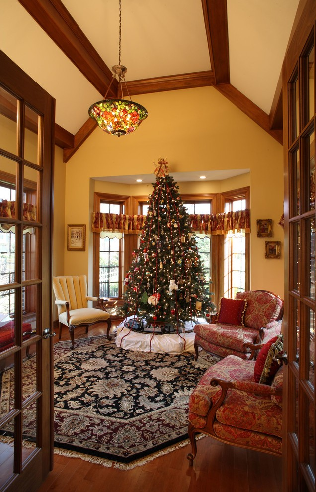 christmas-craftsman-living-room-design