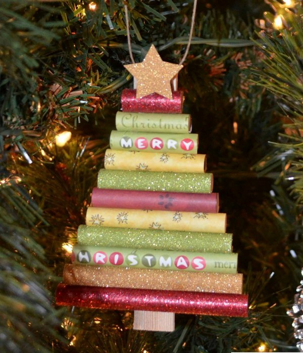 Rolled paper Christmas Tree Ornament
