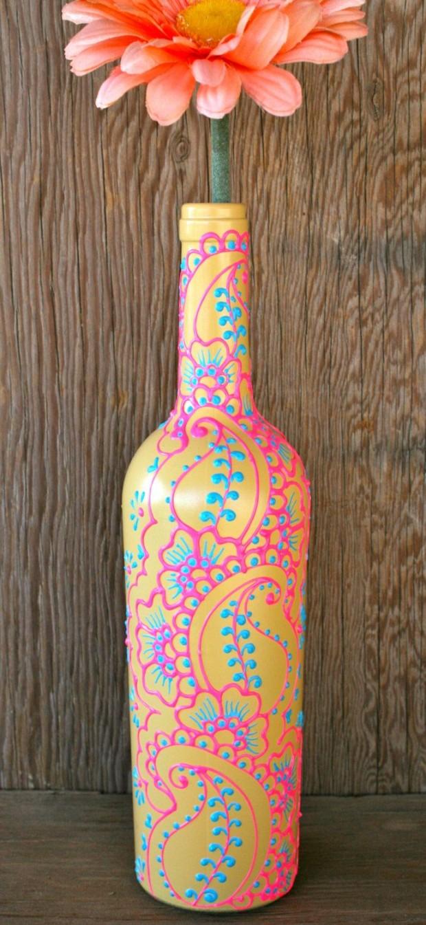 diy-wine-bottle-vase