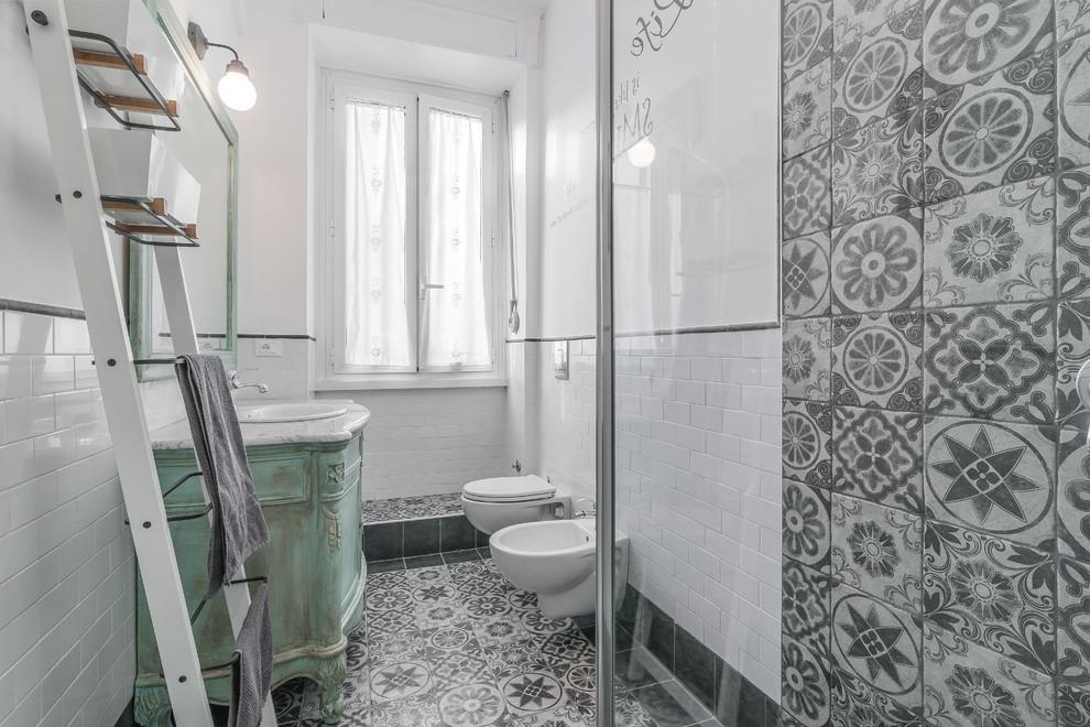 Shabby-Chic-Style Master Bathroom
