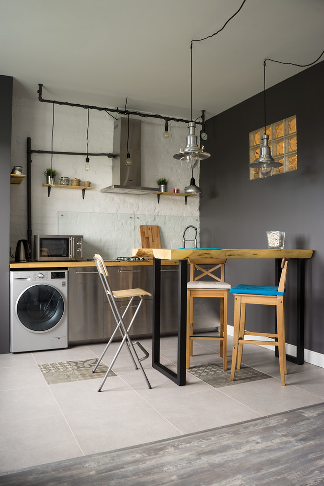 Small Industrial Style Kitchen