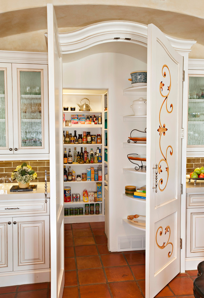 Mediterranean Kitchen Pantry Design