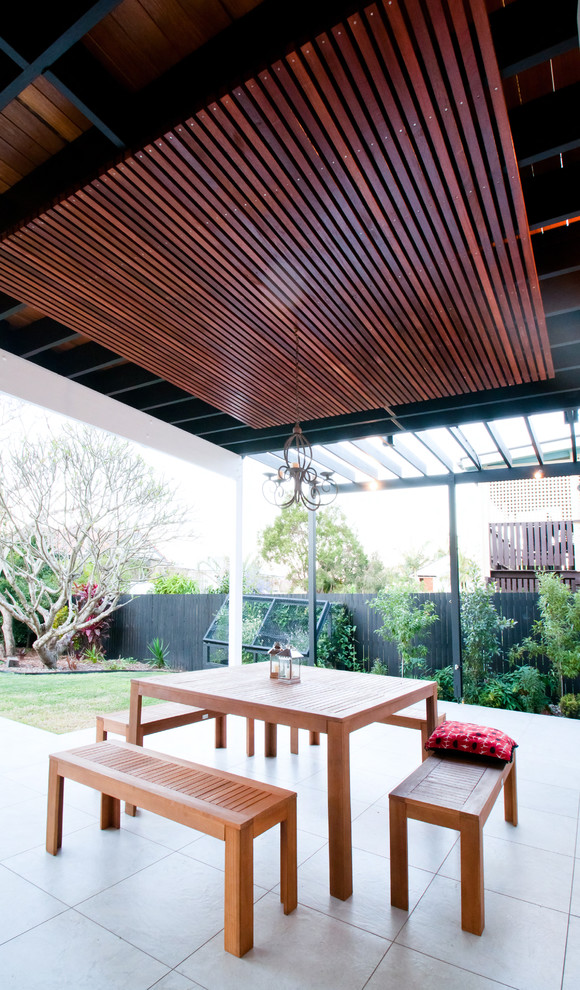 Wooden Transitional Patio Design