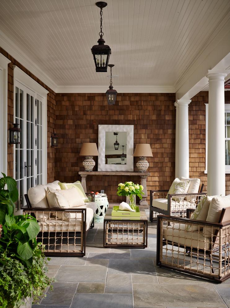 Wooden Victorian Patio Design