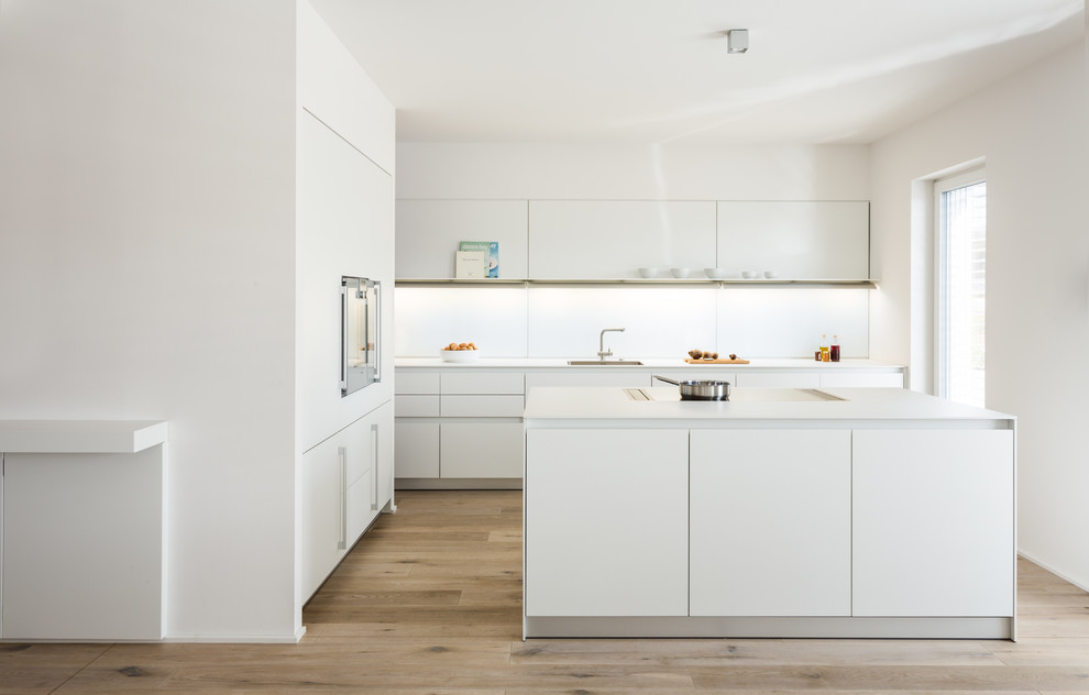 All White Modern Kitchen