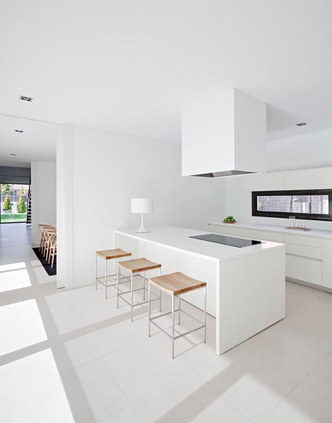 All White Ultra Modern Kitchen Design