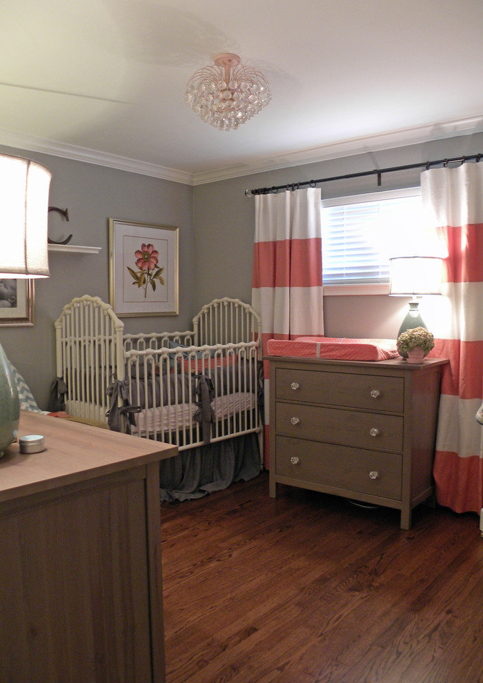 Iron Crib in Contemporary Kids Bedroom