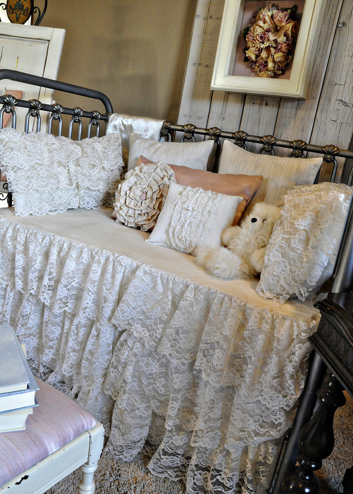 Iron Crib in Shabby-Chic Kids Bedroom