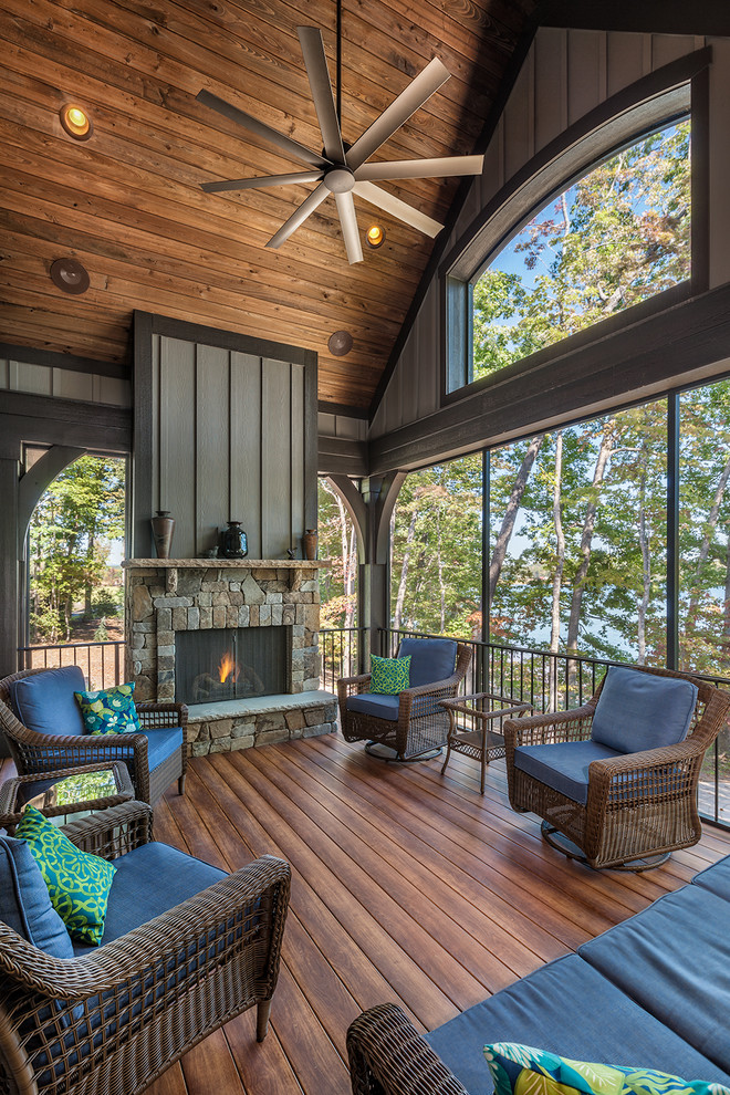 Rustic Backyard Porch Design