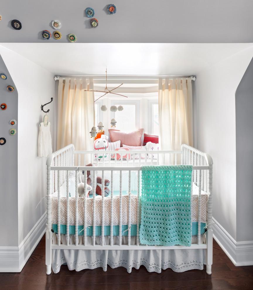 pretty crib skirts in nursery