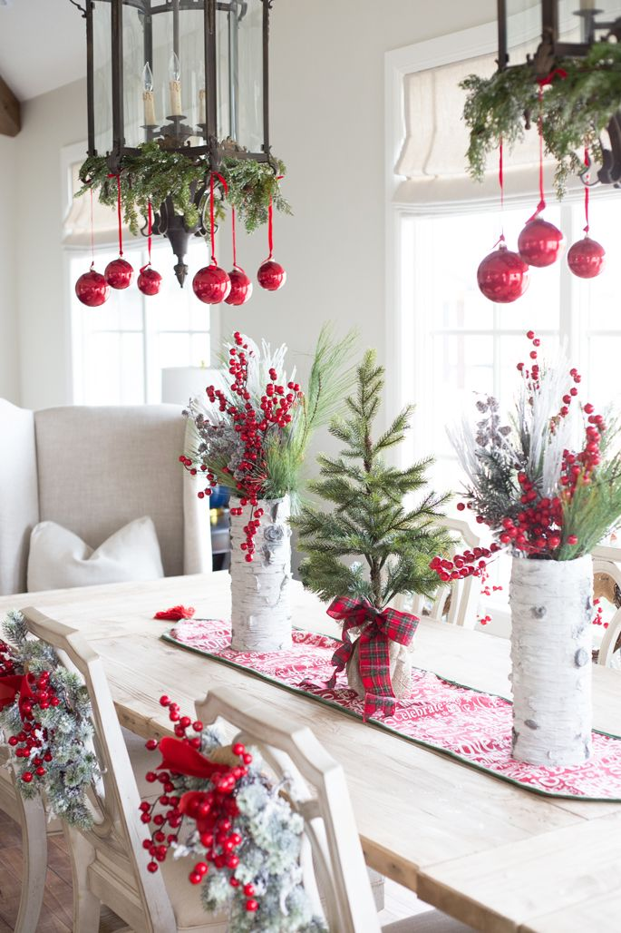 Beach Style Christmas Dining Room Decoration Ideas