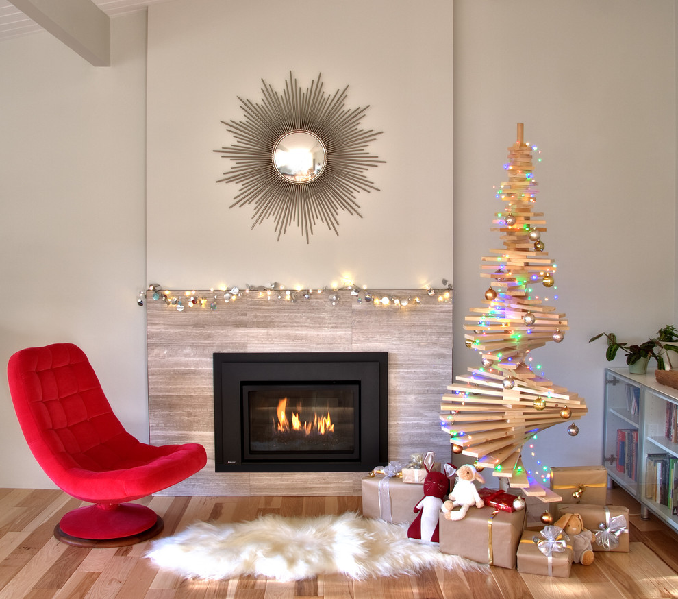 Modern Living Room Christmas Tree