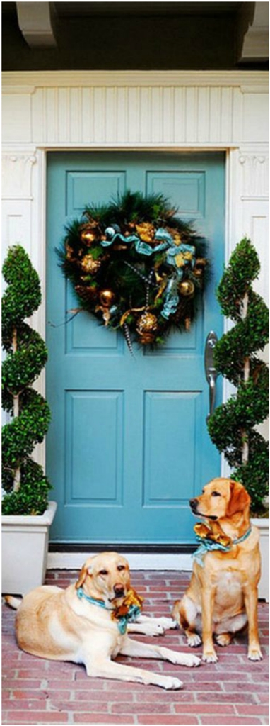 Christmas With Garland Amazing Christmas Front Door