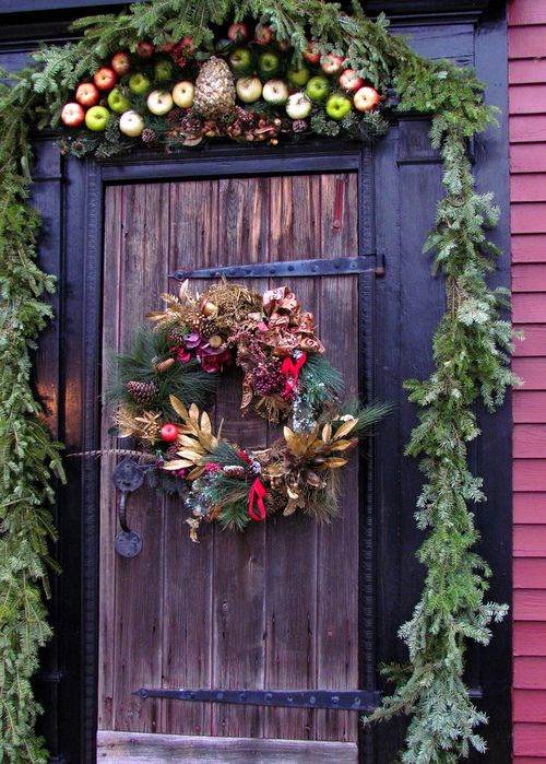 Colonial Williamsburg Christmas Door Decorations
