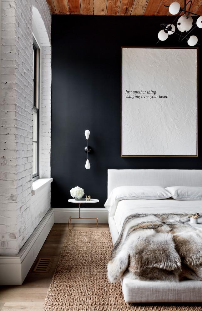 Dark Blue industrial-bedroom