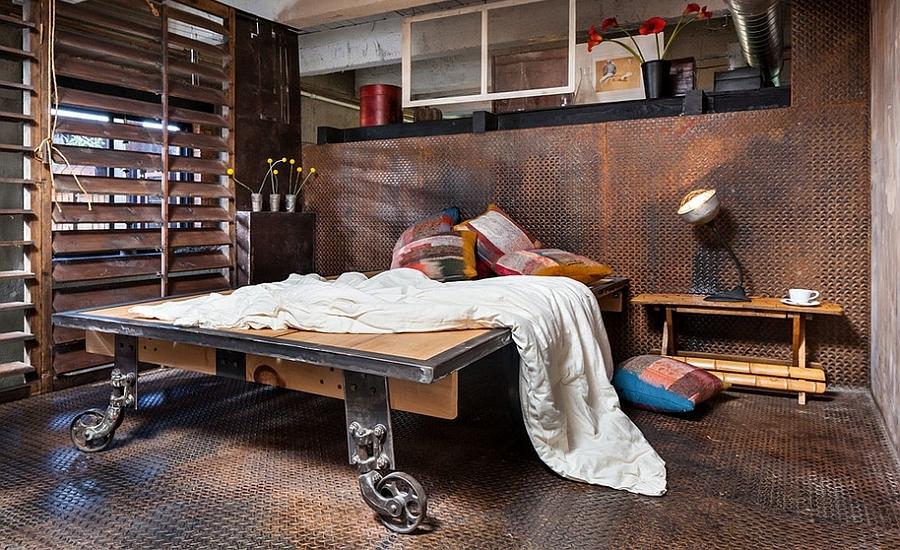 Dashing Industrial Bedroom