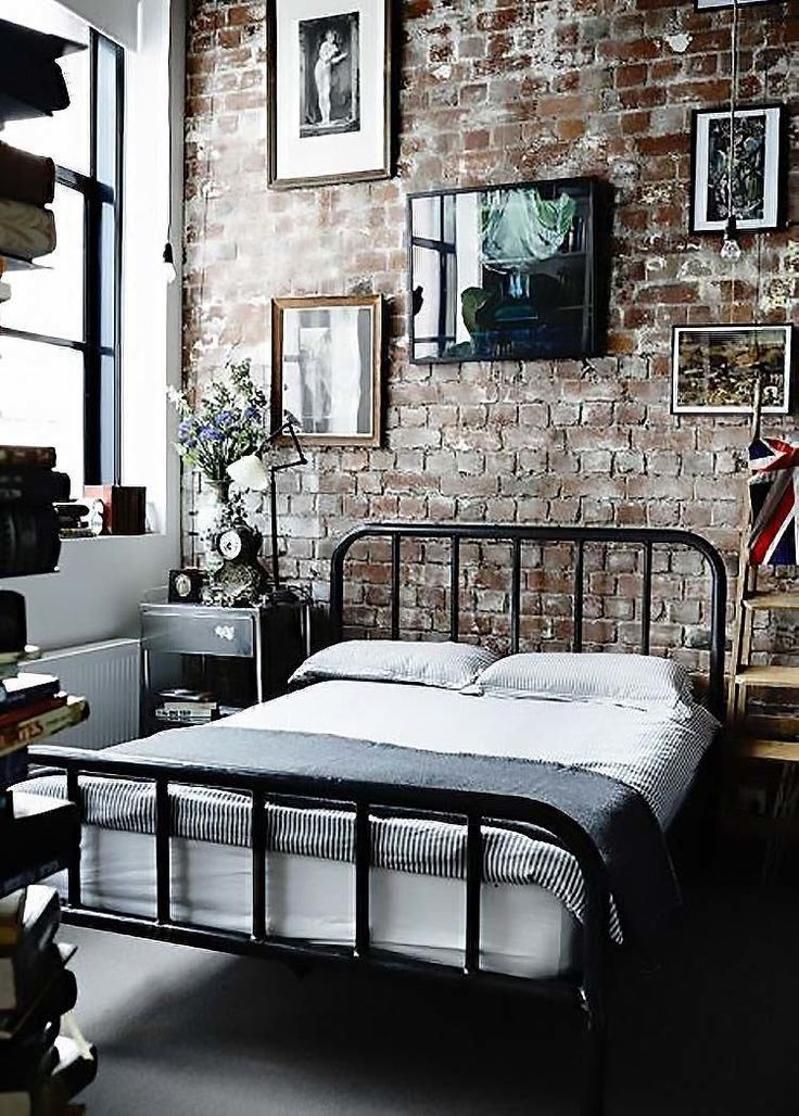 Edgy industrial style bedrooms