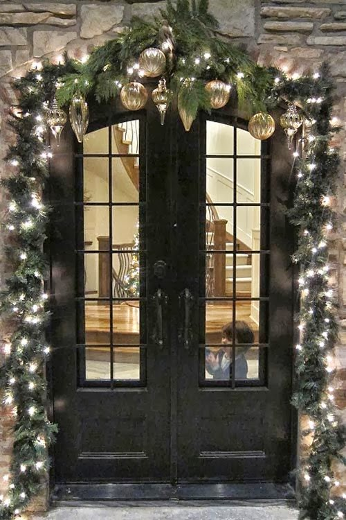 Front Door Christmas Decorations Outdoor