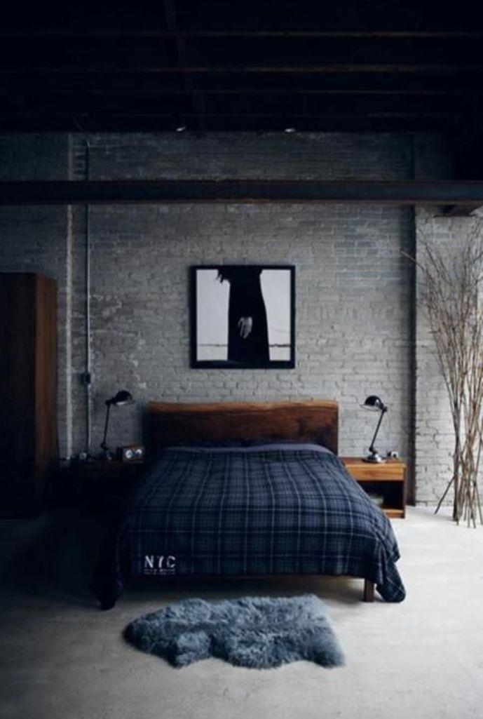 Gloomy Industrial Bedroom