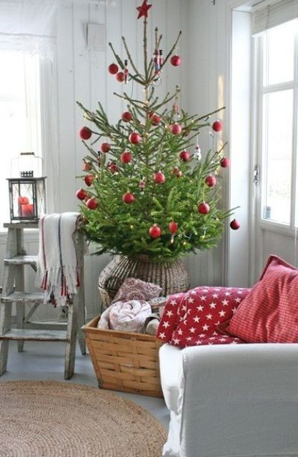 Grey and Red Christmas Decor