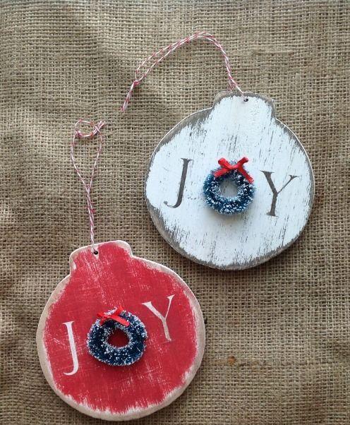 Handmade Joy Wooden Ornaments