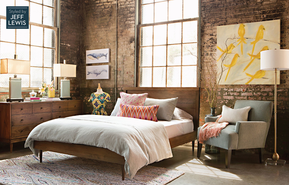 Midcentury Loft-Style Bedroom