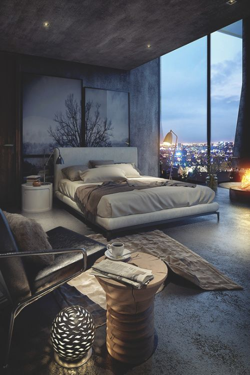 Sophisticated Loft-Style Bedroom